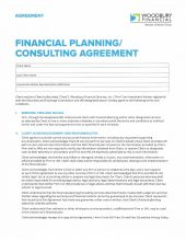 Financial Planning/ Consulting Agreement