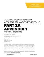 Form ADV Part-2A Appendix 1: Brochure
