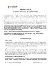 Advisor Managed Portfolios: Agreement